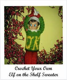 Elf On The Shelf Crochet Monster S Inc Sweater Free