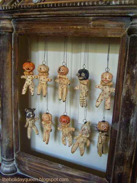 10 whimsical vintage halloween decorations  The Shabby Chic - Vintage halloween decorations, Halloween ornaments, Diy halloween decorations, Halloween diy, Halloween folk art, Vintage halloween - Halloween is just a few days away so try your hand at these nontraditional vintage halloween decorations  They're not your typical gaudy halloween tack!