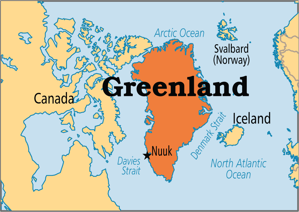 North Pole Greenland And Iceland Map Greenland Svalbard Norway Greenland People