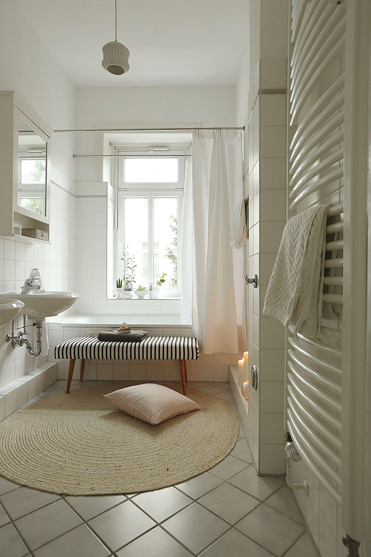 Bad, Badezimmer, schwarz-weiß, Altbau, House Doctor, Interior