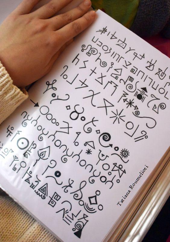 Light Language Codes Symbols Different Scripts Sample Symbols