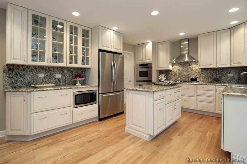 charming Kitchen Remodels With White Cabinets #4: 1000+ ideas about Traditional White Kitchens on Pinterest | Kitchen wet bar, Kitchen cabinets and Farmhouse kitchen cabinets