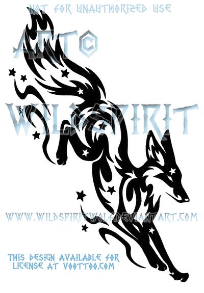 Leaping Starry Fox Tribal Tribal Fox Fox Tattoo Tribal Artwork