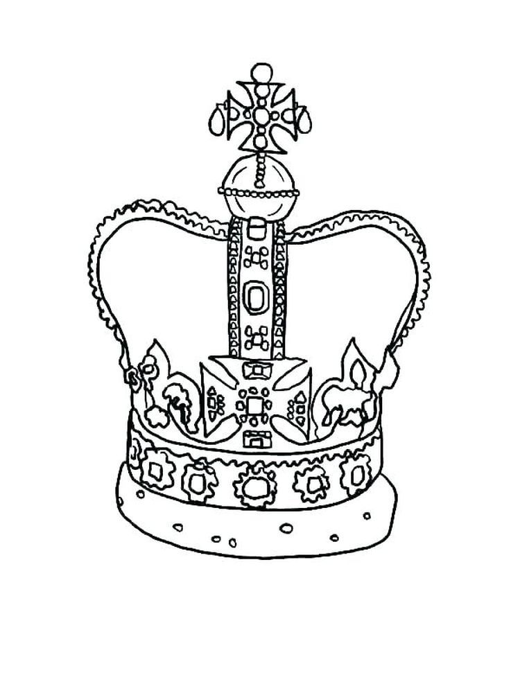 Crown Victoria Coloring Pages For A King The Crown Is A Symbol