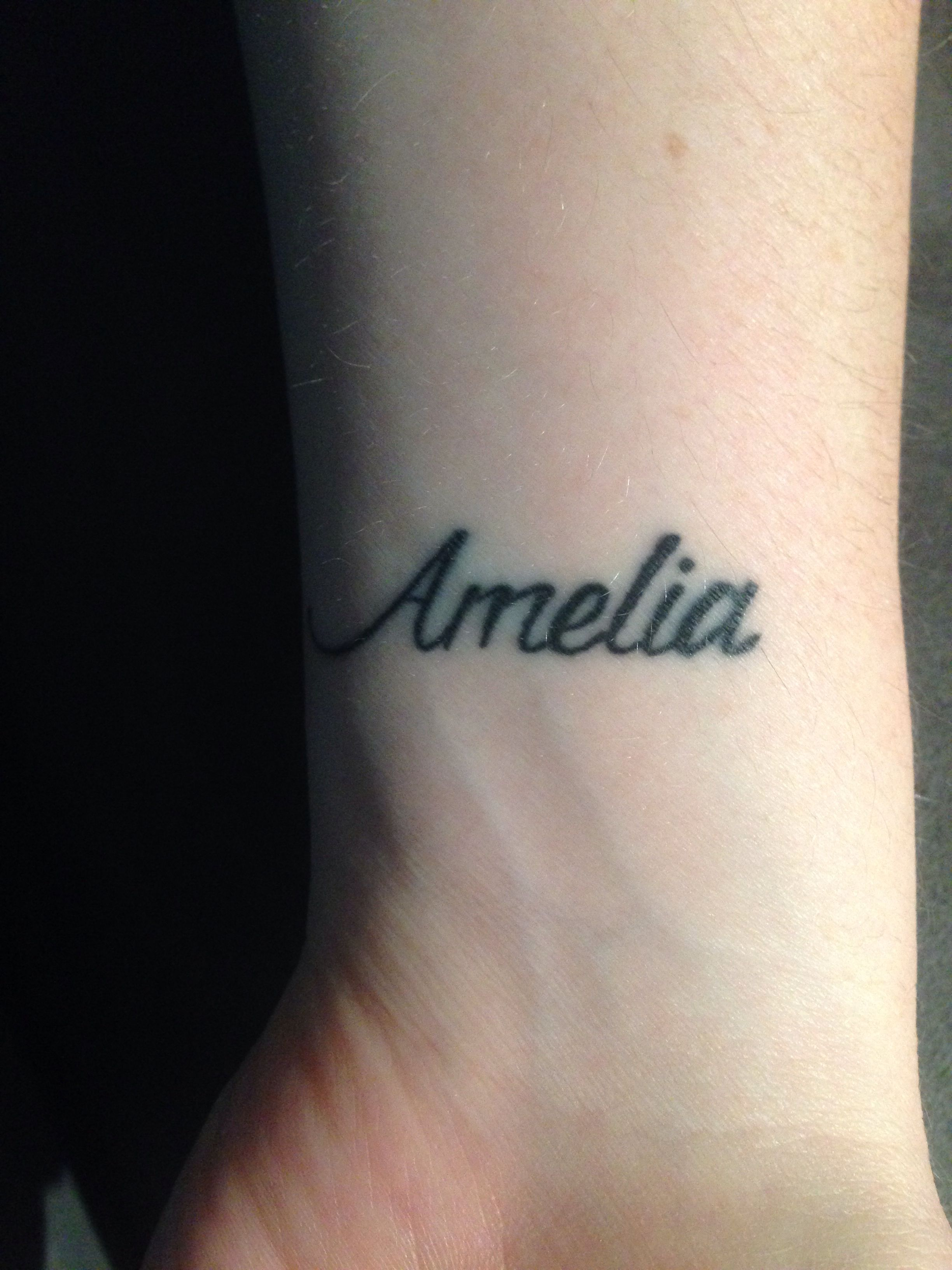 My Amelia tattoo!! For my baby girl ️ (With images) Baby