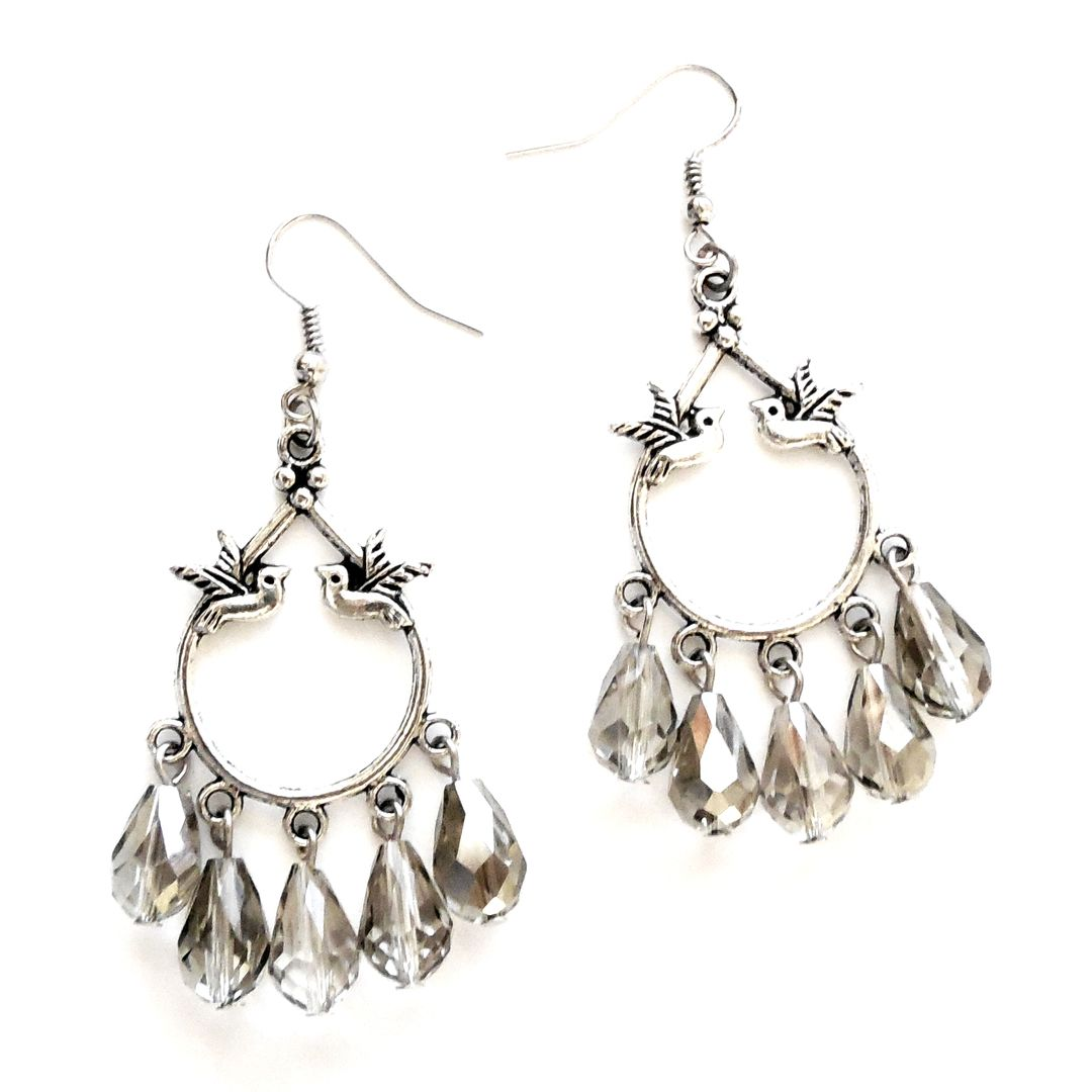 Sparkling bird chandeliers earrings pinterest chandeliers sparkling bird chandeliers arubaitofo Image collections