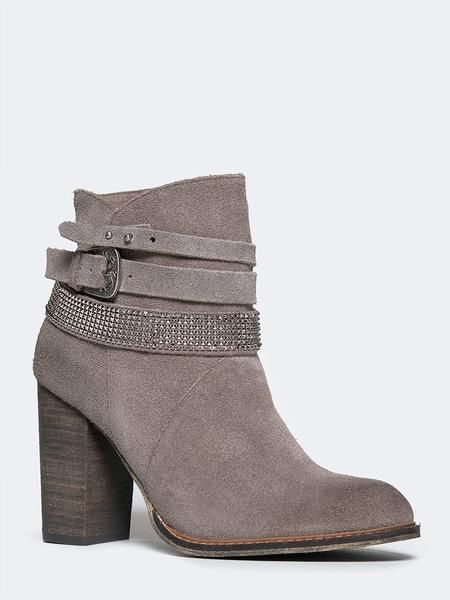 f10272aa8438 Grey Zanga Bootie from Chinese Laundry on ZOOSHOO. Super cute yet simple  embellished straps!