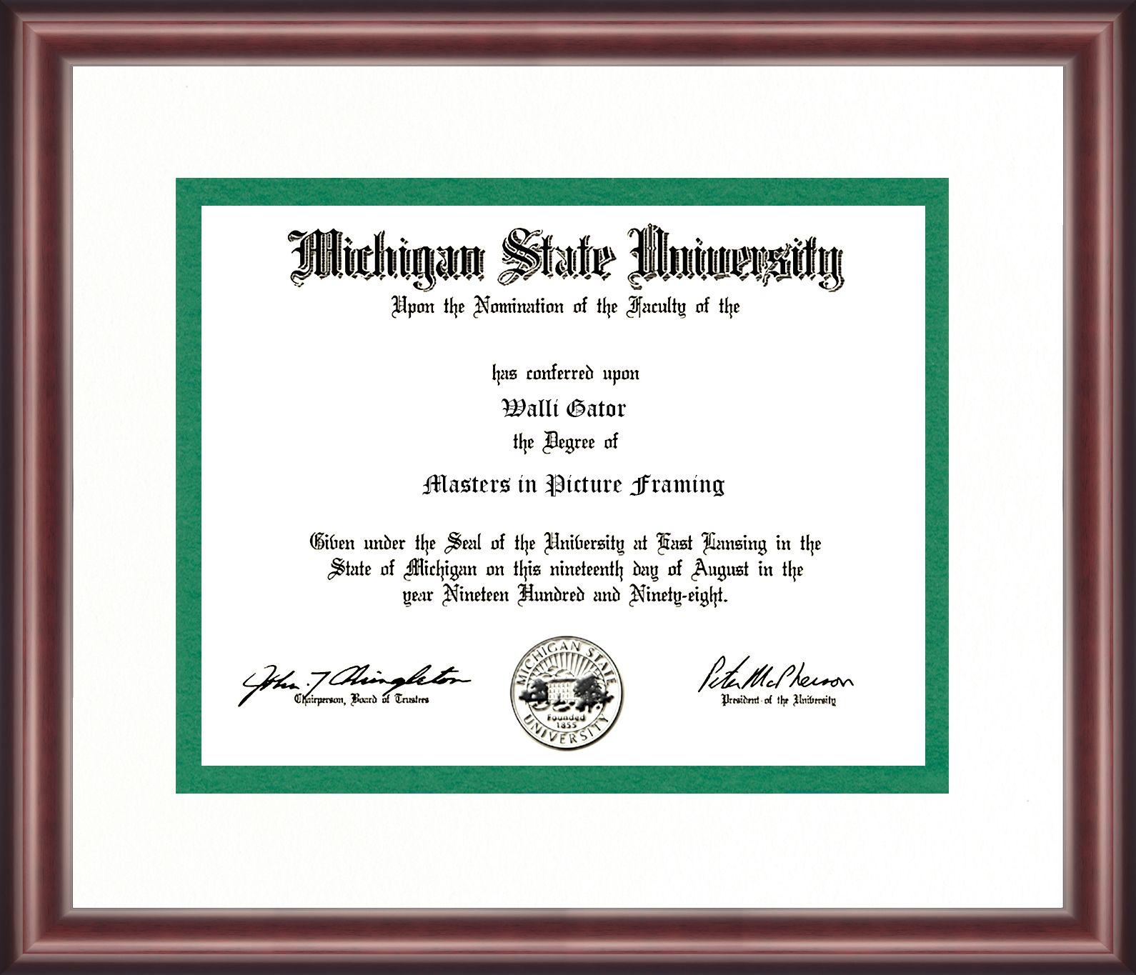 Michigan State University Diploma Frame | Diploma Frames | Pinterest ...