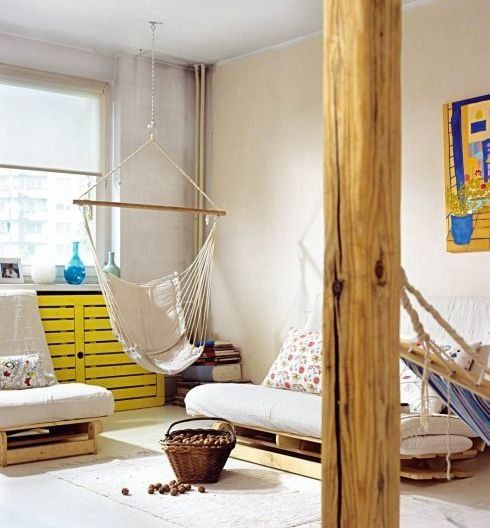 Hammock In A Living Room  Spaces To Live Spaces To Be Fascinating Living Room Hammock Inspiration Design