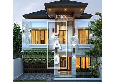 desain rumah 2 lantai luas 400m2 bp dede di jakarta