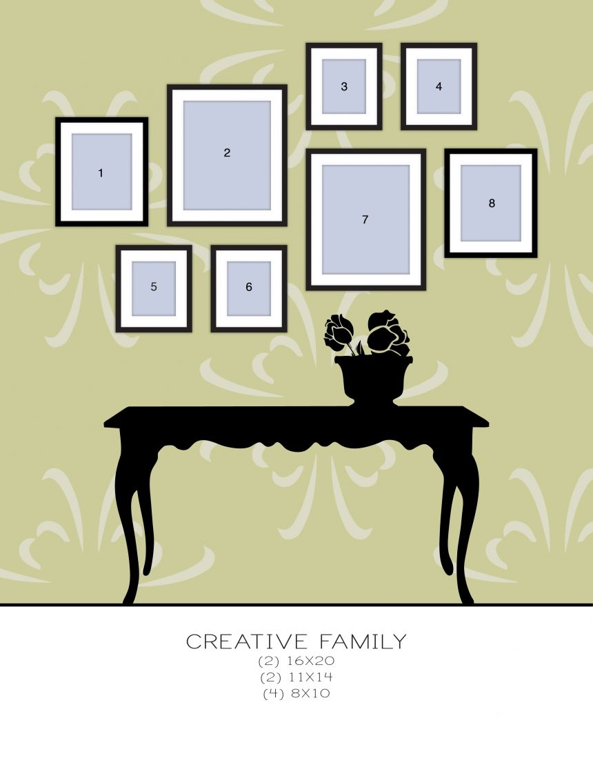 Creative Wall Gallery (different combinations)   Wall Gallerys ...