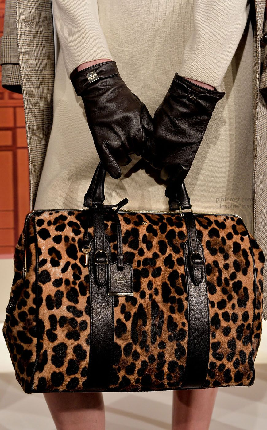 From Nyfw This Kate Spade Leopard Print Handbag Is A Must Have For Your Trov Fall