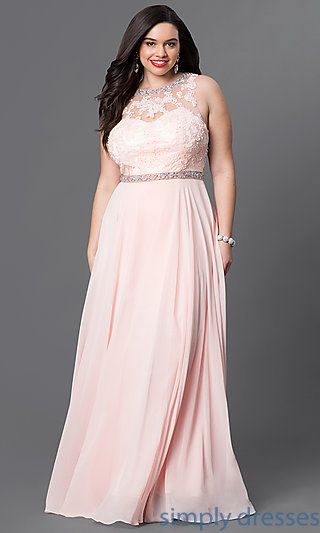 Plus-Size Long Formal Evening Dress in Champagne in 2019 | Juana ...