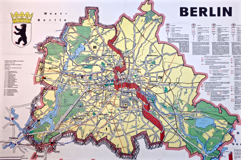 Berlin Wall Subway Map.Berlin Wall Map Maps Berlin Wall West Berlin Berlin Germany