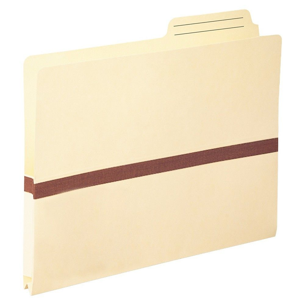 Smead One Inch Accordion Expansion File Pocket, 2/5 Tab, Letter, Manila, Off White