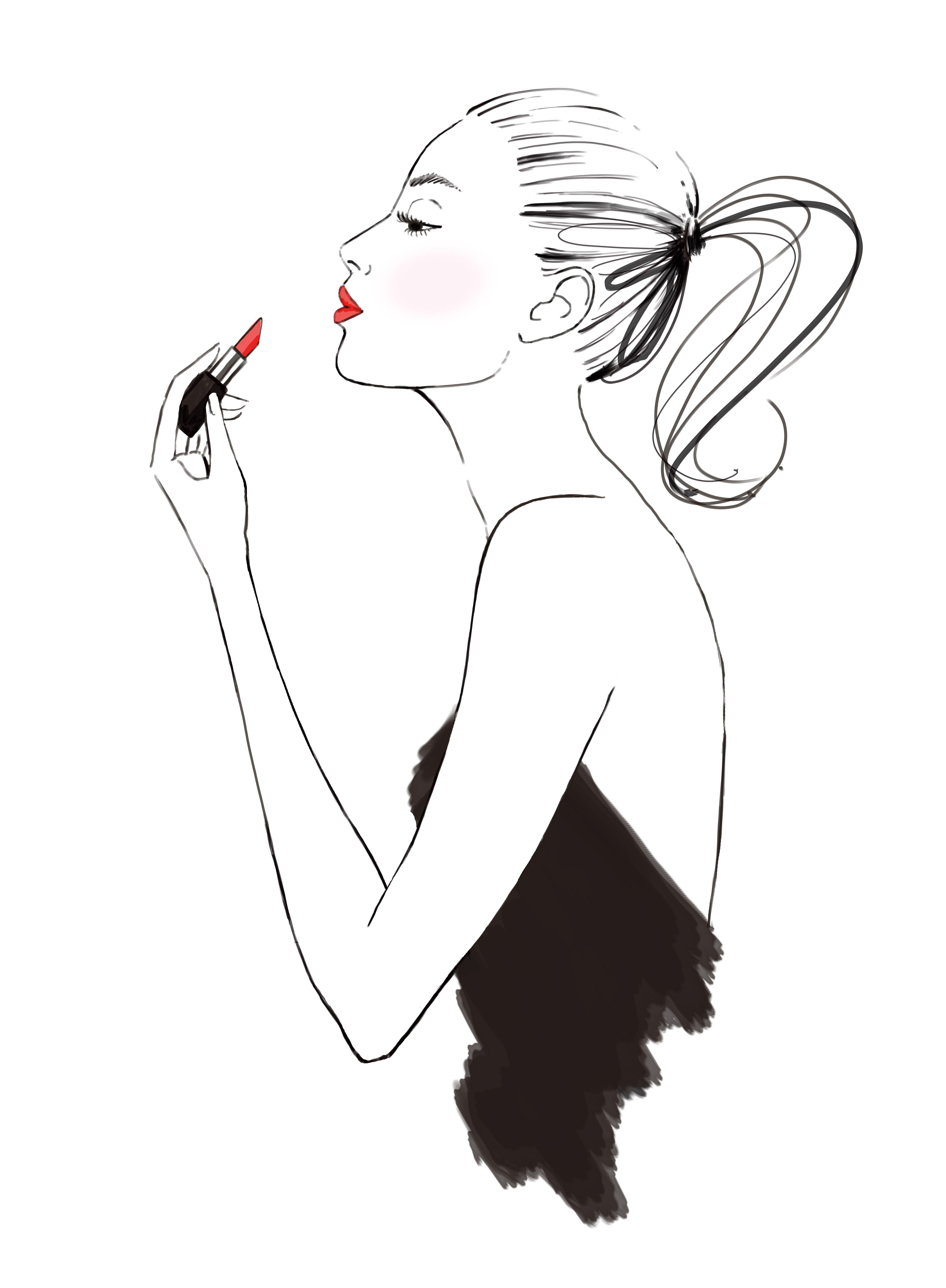 Lipstick Beauty Illustration Fashion Illustration