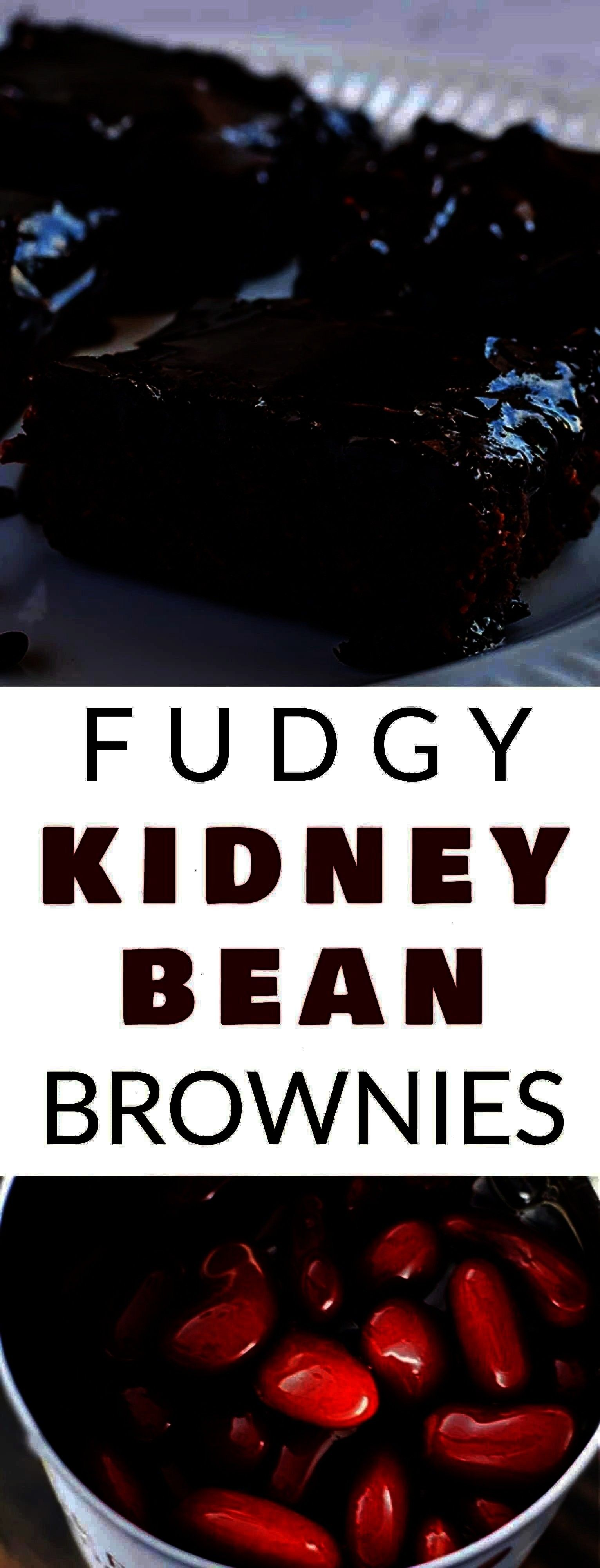 This Fudgy KIDNEY BEAN Brownies recipe is the BEST! These brownies are easy to make, moist and mad