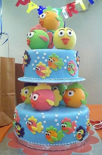 Fish Birthday Cake by Box Full of Surprises, via Flickr