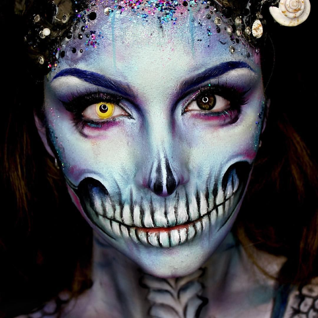 ellie h m on instagram zombie mermaid wearing camoeyes contacts in 39 avatar 39 and litcosmetics. Black Bedroom Furniture Sets. Home Design Ideas