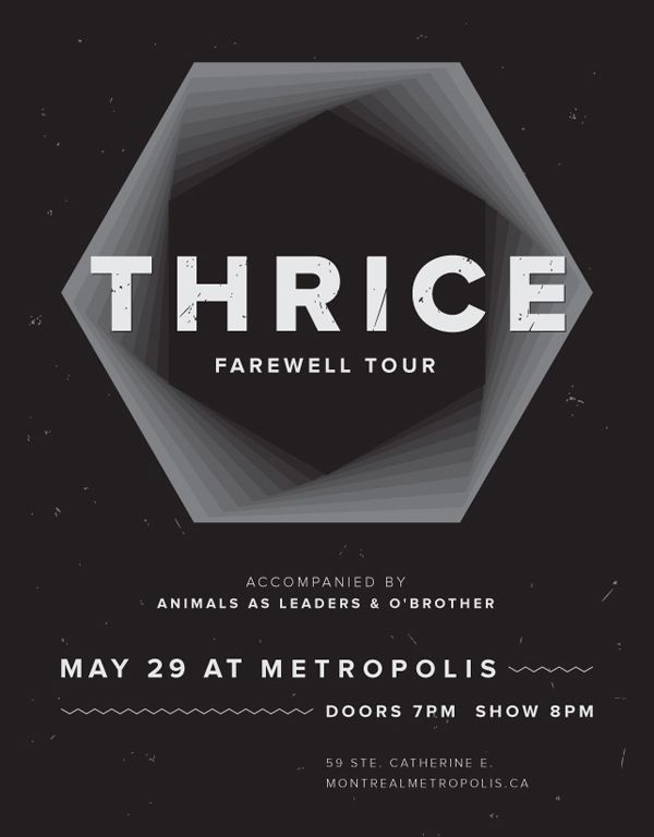 Thrice Concert Poster On Behance Band Posters Concert Posters Music Poster