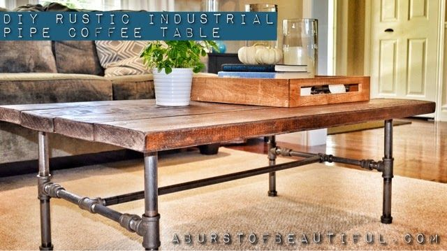 Attractive DIY Rustic Industrial Pipe Coffee Table