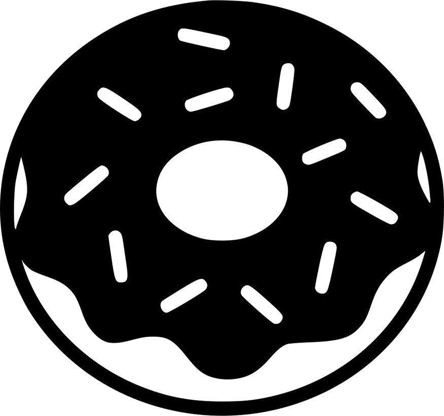 Donut Digital File Svg Png Jpg Cricut Silhouette Etsy In 2021 Svg Donut Vector Cricut Projects Vinyl