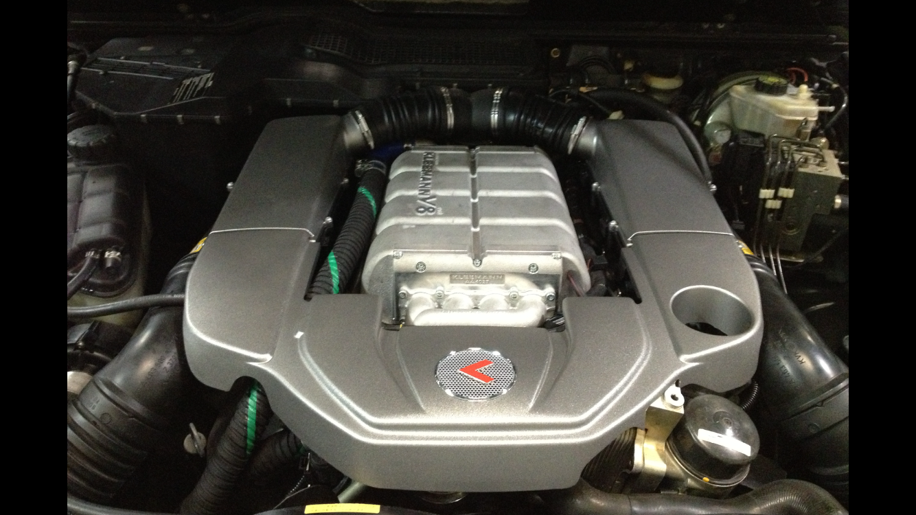 Mb Mercedes M113 Motor With Kleemann Supercharger Installed In 2003 G55 Amg Supercharger Baby Car Seats Mercedes