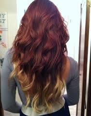 Red Hair With Blonde Tips I Love This But I D Flip The Colors