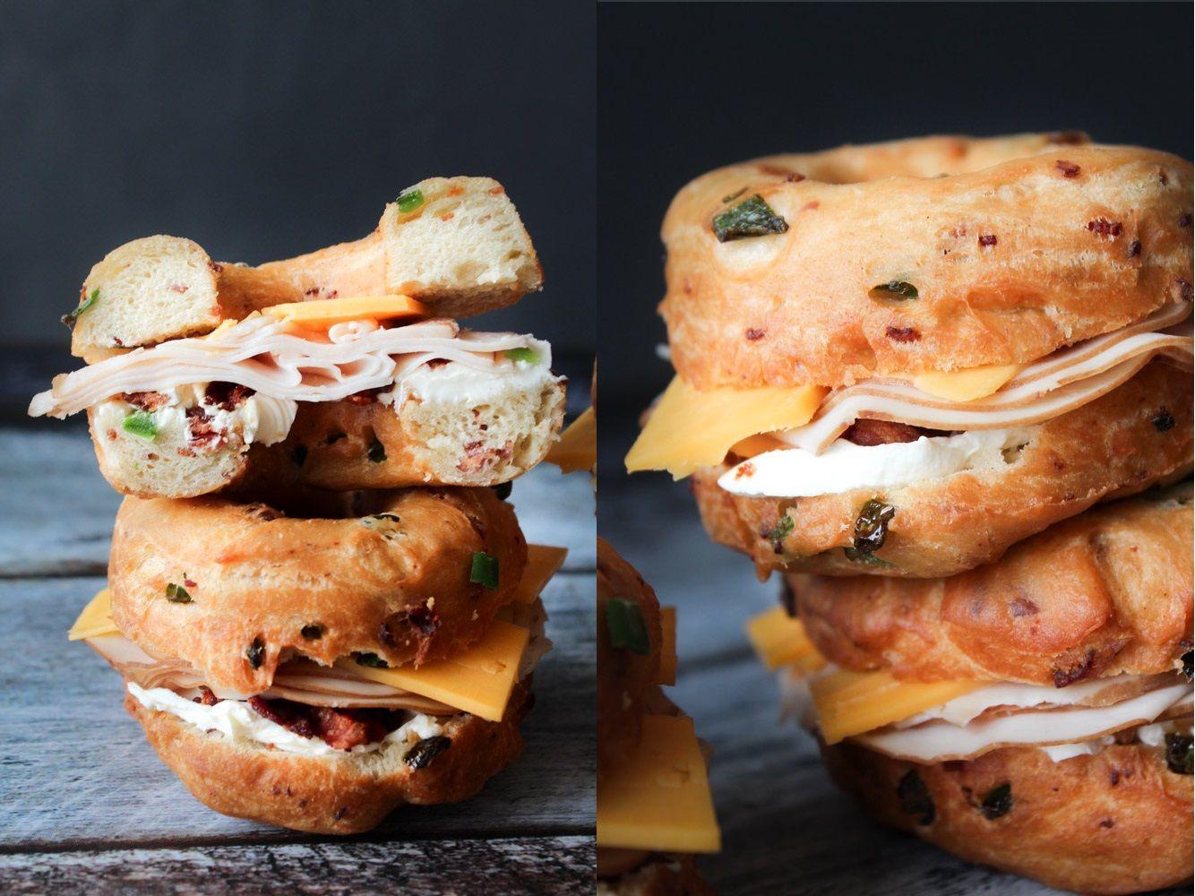 Homemade Savory Jalapeño Popper Donut Sandwiches [OC] [1334x1000] via Classy Bro