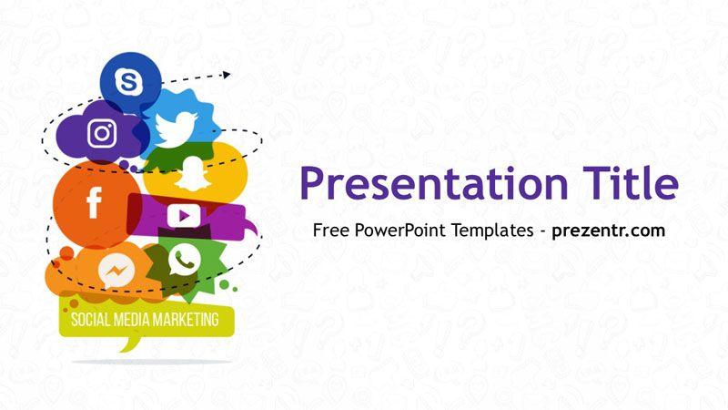 Free Social Media Marketing Powerpoint Template Free Social