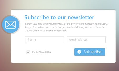 2b8915fd8f 32 Beautifully Designed Newsletter Subscription Form PSD | Form ...