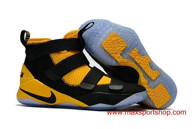 2017 Nike LeBron Soldier XI Black and Yellow Basketball Shoes For Men  76.00 ff68ff1d12