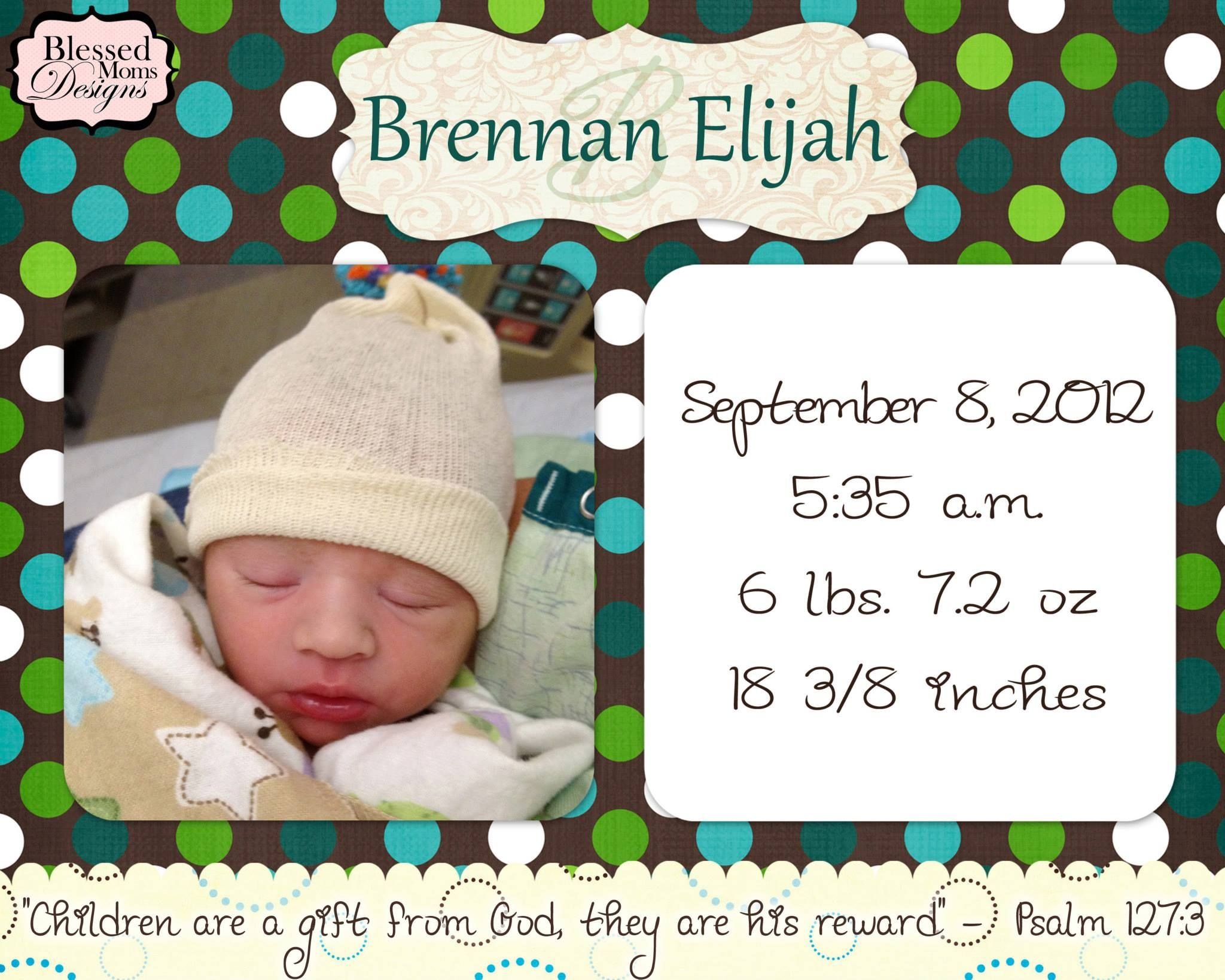 Birth Announcement Quotes Birth Announcement With Bible Quote Httpswww.facebook