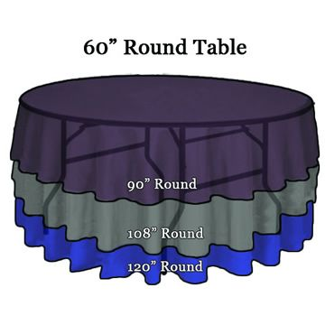 Tablecloth Sizing Tips Wedding and Event Linens Shipped to You