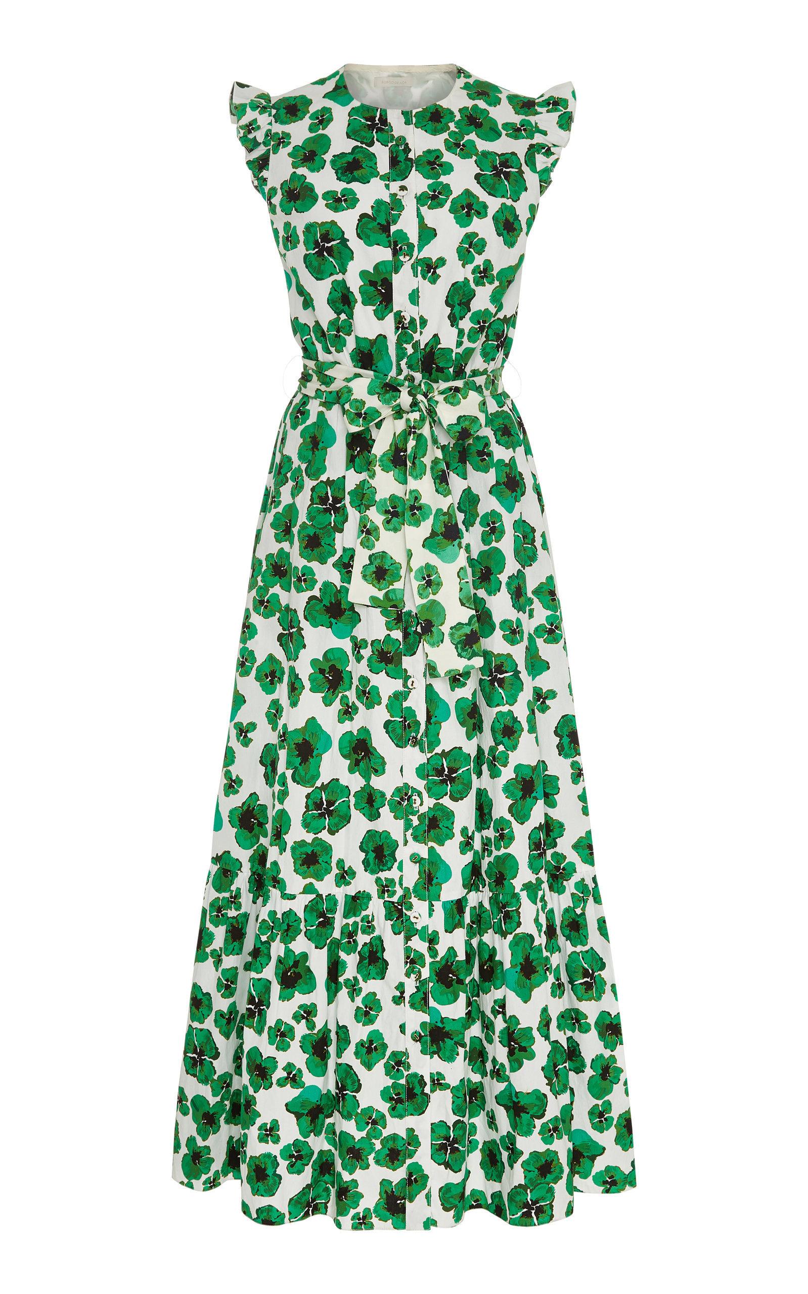 fb56fcddadc Borgo De Nor Gabriella Floral-Print Cotton-Poplin Maxi Dress in 2019 ...