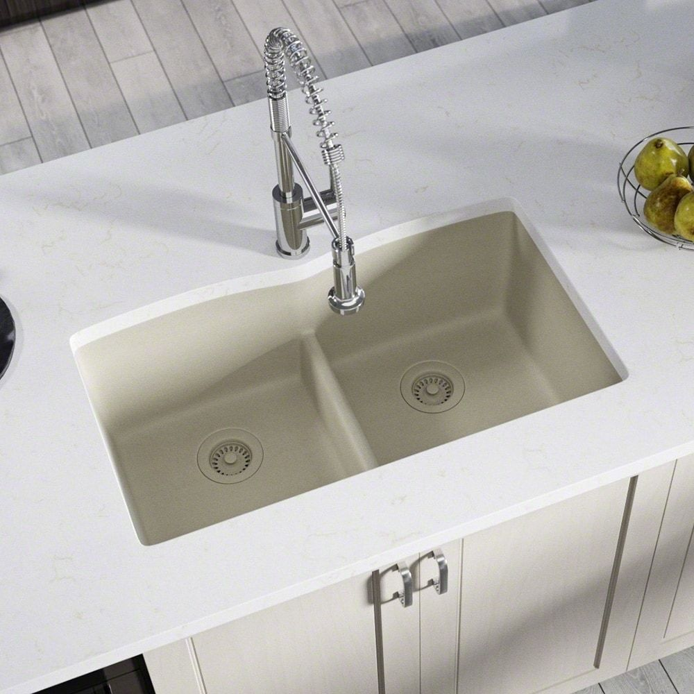 double equal bowl lowdivide undermount composite granite sink