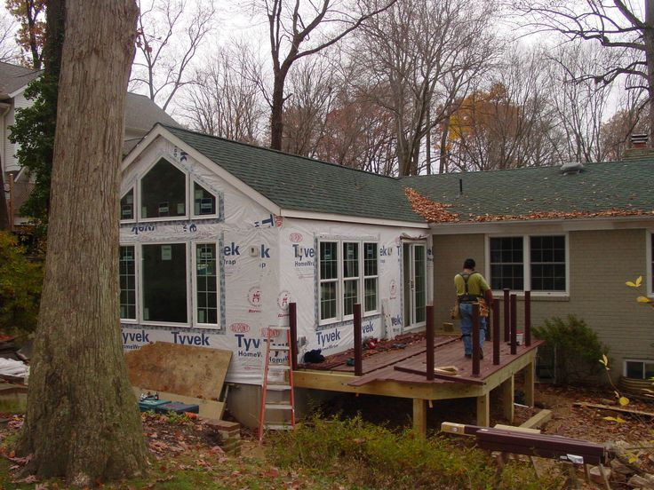 Family room addition on a rambler addition to a rambler for Small home addition ideas
