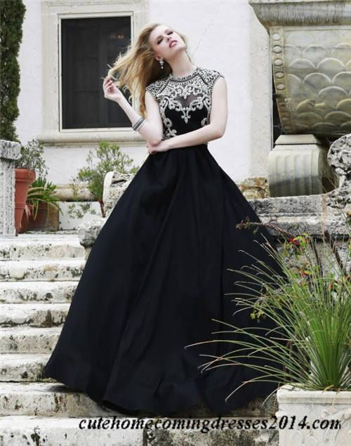Black Beaded High Neck Sherri Hill 4332 Ball Gown Dress | Prom ...