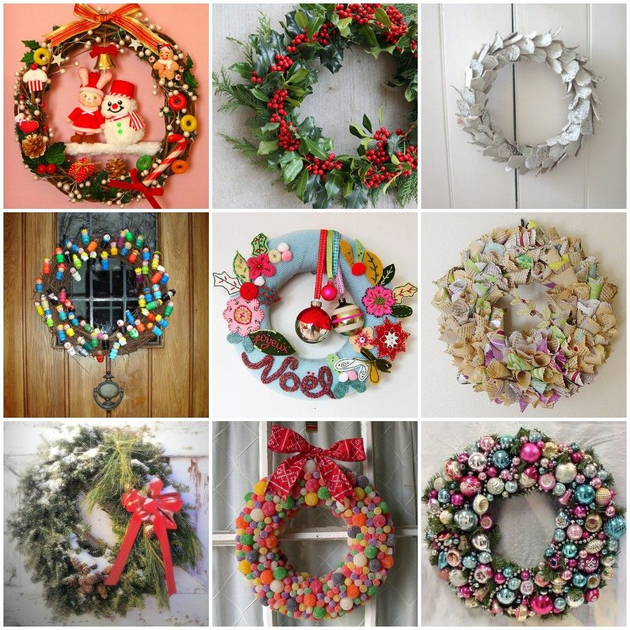 Captivating Entry Door Decorated With Wreath Is A Great Announce Of Your Christmas  Spirit. Christmas Wreaths Can Actually Be Made Out Of Just About Anything.