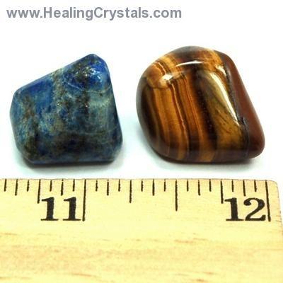 Mix - Tumbled Libra Mix (Zodiac) - 2 Piece Set w/Pouch- Golden Tiger Eye - Healing Crystals