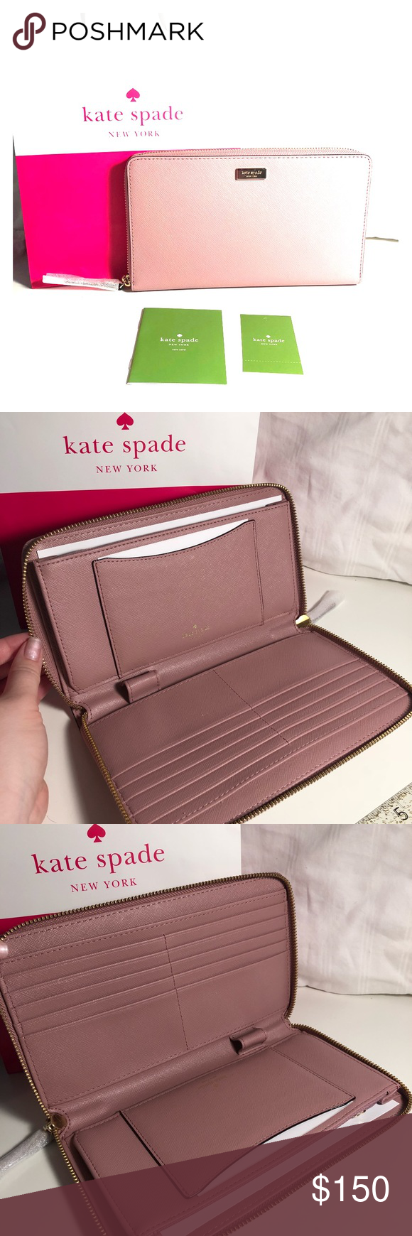 6f809cfccd2a Kate spade pink travel wallet laurel way kaden For stashing your ...