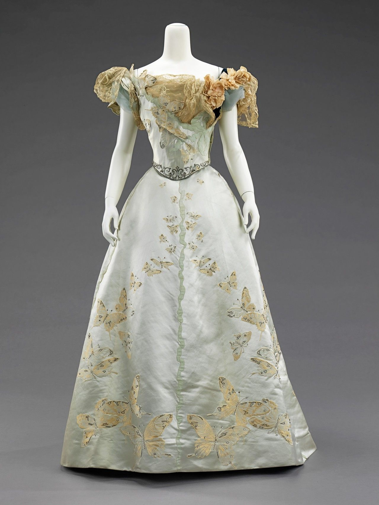 A beautifully embellished worth dress victorian fashion