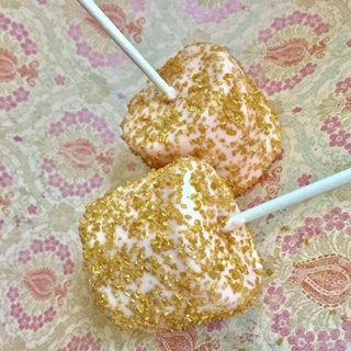 Blush Pink and Gold Jumbo Marshmallows, Chocolate Covered Dipped Jumbo Marshmallow Pops, Rose Gold Marshmallows Favors, Pink Marshmallows