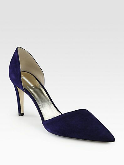 visit new for sale Giorgio Armani Suede D'orsay Pumps the cheapest for sale sale collections sale visit clearance 2014 Dpzb4RE2
