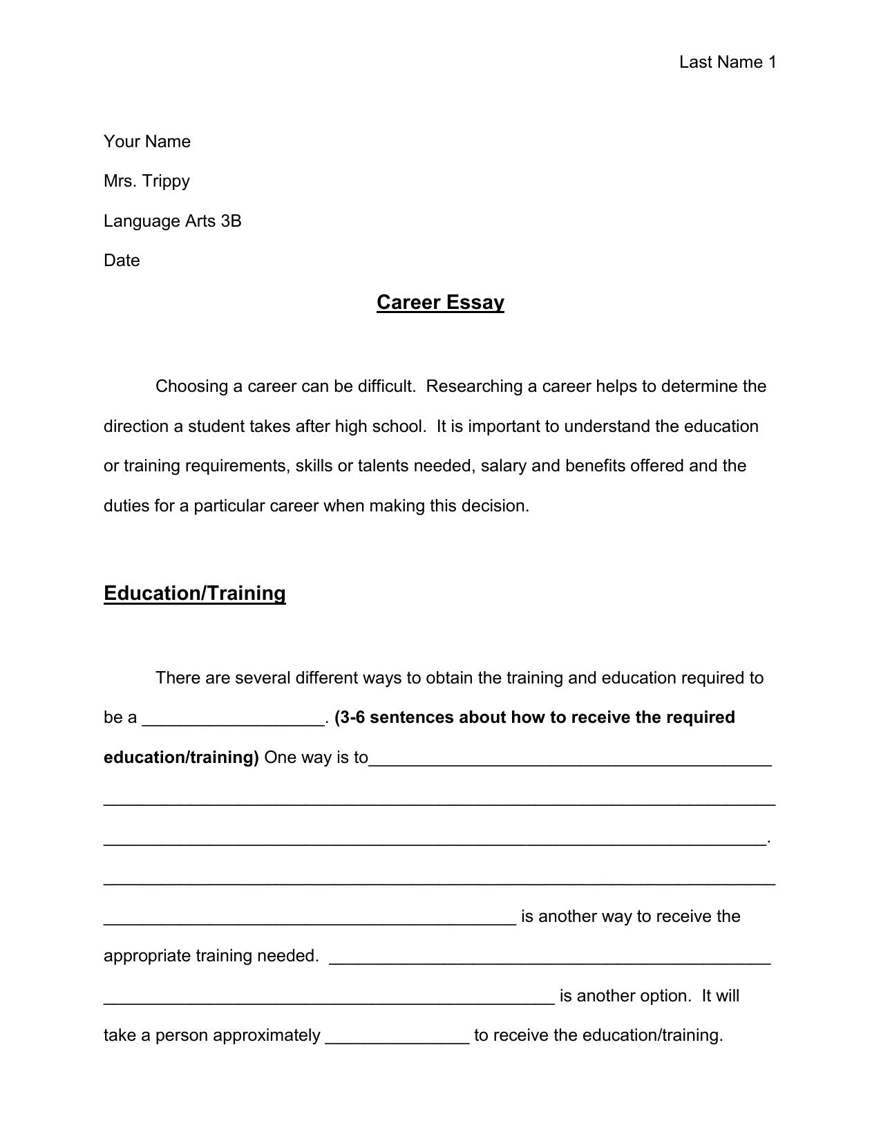Career Essay Outline Essay Outline Paper Writing Service Essay