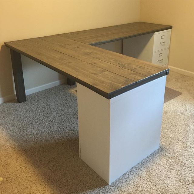Office Desk Is Ready To Go Husband Has Made The New Office Project Find The Largest Whiteboard Ever Home Office Furniture Home Office Desks Diy Office Desk