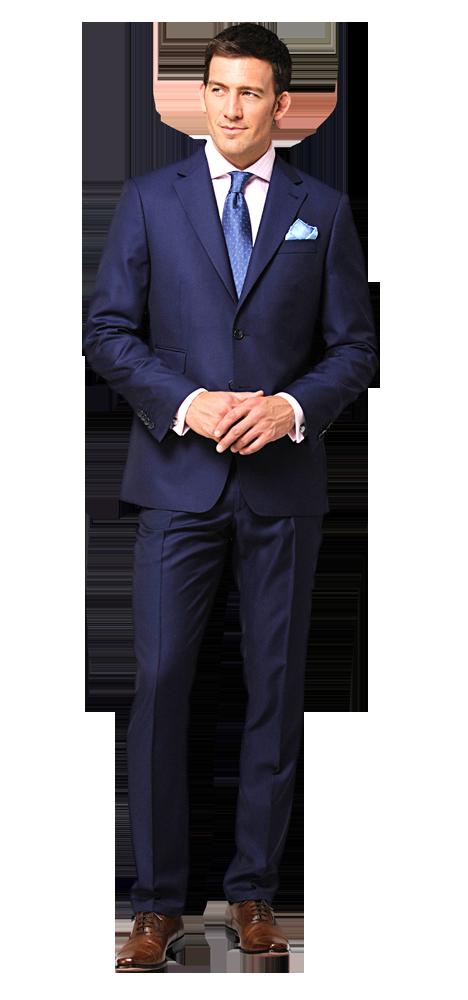 Blauer anzug mit braunen schuhen