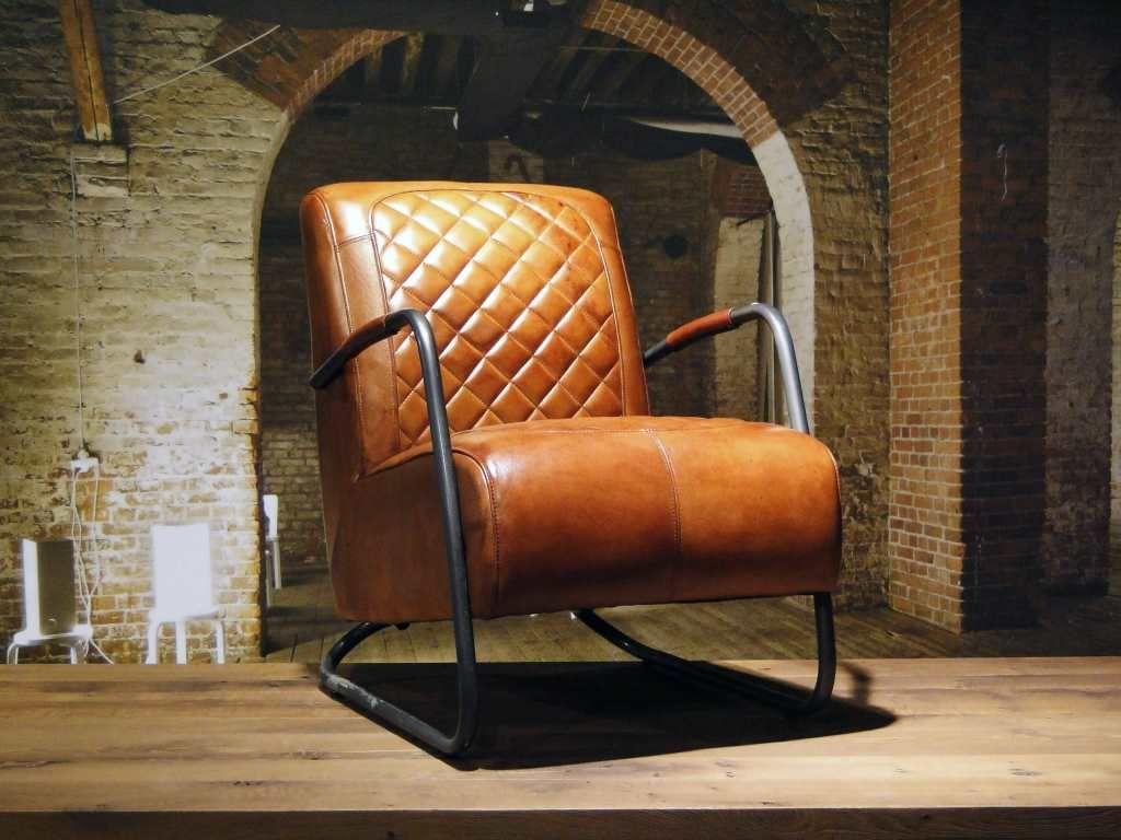 Leren fauteuil cambrai ruit in stoelen