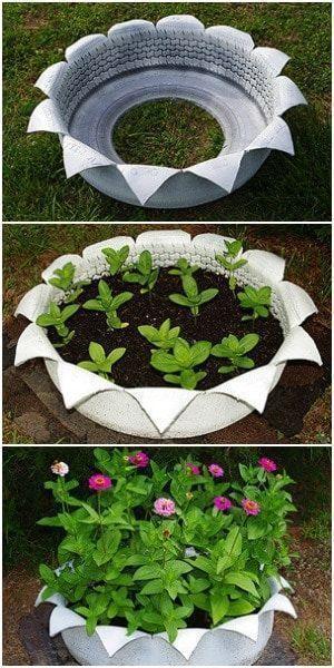 20+ Best DIY Tire Planter Flower Pot Ideas & Projects For 2019