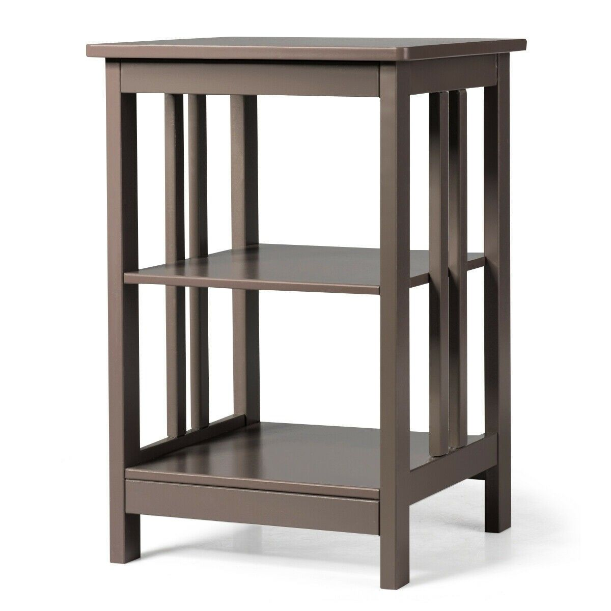 3 Tier Nightstand Side Table With Baffles And Corners Sofa End Tables Side Table Modern Side Table